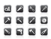 Different kind of tools icons — Stock Vector