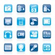 Multimedia and technology icons — Vettoriali Stock
