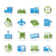 Shipping and logistics icons - ベクター素材ストック