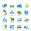 Shipping and logistics icons — Stock Vector