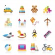 Different kind of toys icons — Stock Vector #10081161