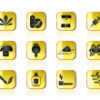 Different kind of drug icons - Stock Vector