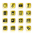 Phone Performance, Internet and Office Icons — Imagen vectorial