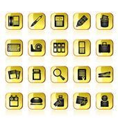 Office tools Icons — Stock Vector