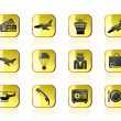 Royalty-Free Stock Vector Image: Airport and travel icons