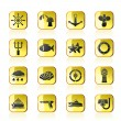 Marine and sea icons - Stock Vector