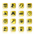 Reservation and hotel icons - Imagen vectorial
