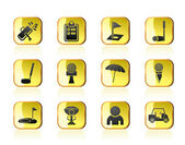 Golf and sport icons — 图库矢量图片
