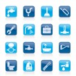 Plumbing objects and tools icons — Vector de stock #10355889
