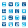 Stock Vector: Wireless and technology icons