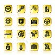 Car and transportation icons - Stock Vector