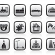Different Kinds of Toys Icons - Stock Vector