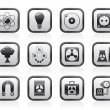 Atomic and Nuclear Energy Icons — Stock vektor