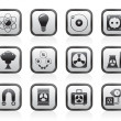 Atomic and Nuclear Energy Icons - Stock Vector