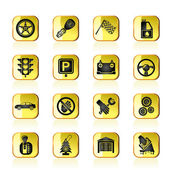 Auto en vervoer pictogrammen — Stockvector