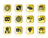 Casino and gambling icons — Stock Vector