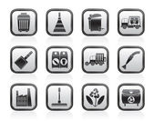 Cleaning Industry and environment Icons — Stock Vector