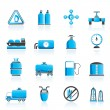 Natural gas objects and icons - Stock Vector