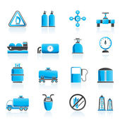 Iconos y objetos de gas natural — Vector de stock