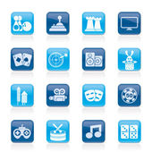 Entertainment objects icons — Vettoriale Stock