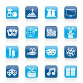Underhållning objekt ikoner — Stockvektor