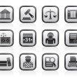 Justice and Judicial System icons — Stock Vector #10544883