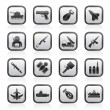 Army, weapon and arms Icons - Stock Vector