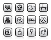 Medicine and hospital equipment icons — Vetorial Stock