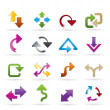 Stock Vector: Different kind of arrows icons