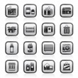Different kind of package icons — Imagen vectorial
