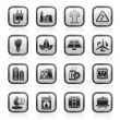 Stock Vector: Power, energy and electricity icons