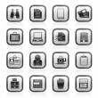Business and office elements icons — Stock Vector