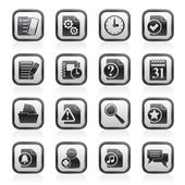 Organizer, communication and connection icons — Stock Vector