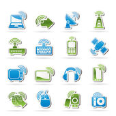 Wireless and technology icons — Stock Vector
