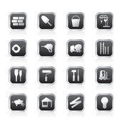Construction and Building Icon Set. Easy To Edit Vector Image. — Stock Vector