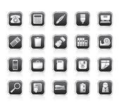 ícones de ferramentas de escritório simples — Vetor de Stock