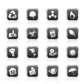 Ekologi och återvinning ikoner — Stockvektor