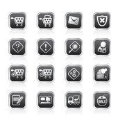 Iconos de tienda online — Vector de stock