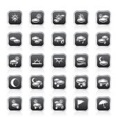 Weather and nature icons — Stock Vector
