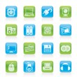 Computer Items and Accessories icons - Stock Vector