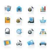 Web Site and Internet icons — Stok Vektör