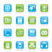 Computer Items and Accessories icons — Stock Vector