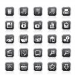 25 Simple Realistic Detailed Internet Icons — Stockvector #8149124