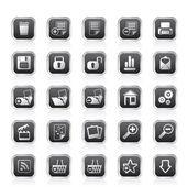 25 jednoduchých realistické podrobné ikony internet — Stock vektor