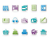 Library and books Icons — Stock Vector