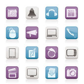 Communication and media icons — Stock Vector
