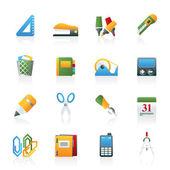 Ikony obiektów biurowych i biznesowych — Wektor stockowy