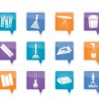 Home objects and tools icons — Stock Vector
