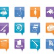 Fishing and holiday icons - Imagen vectorial