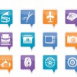 Retro business and office object icons - 